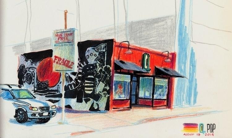 Pop Tokyo - colorpencil, pleinair - stefkardos | ello