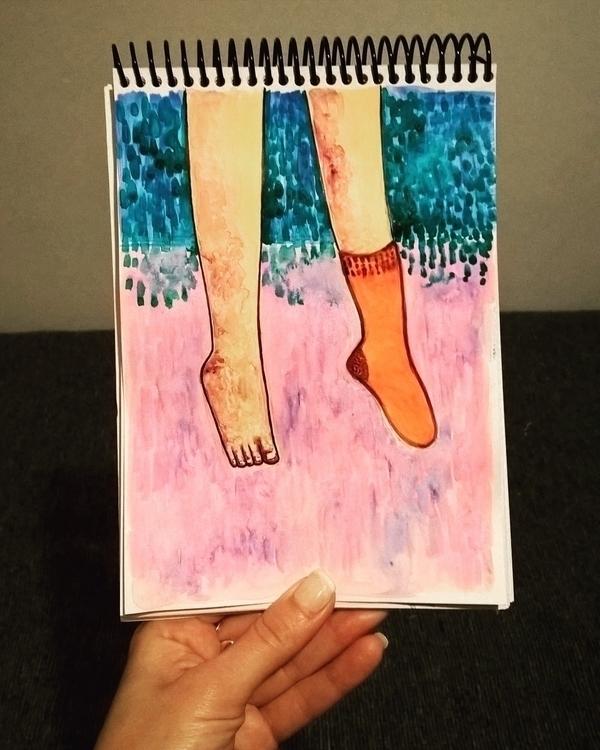 illustration, painting, legs - theotherhalfofthesky | ello
