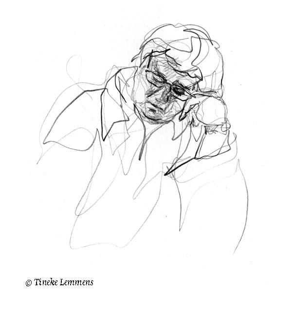 3-minute portrait3 - portrait, sketch - tineke-1461 | ello