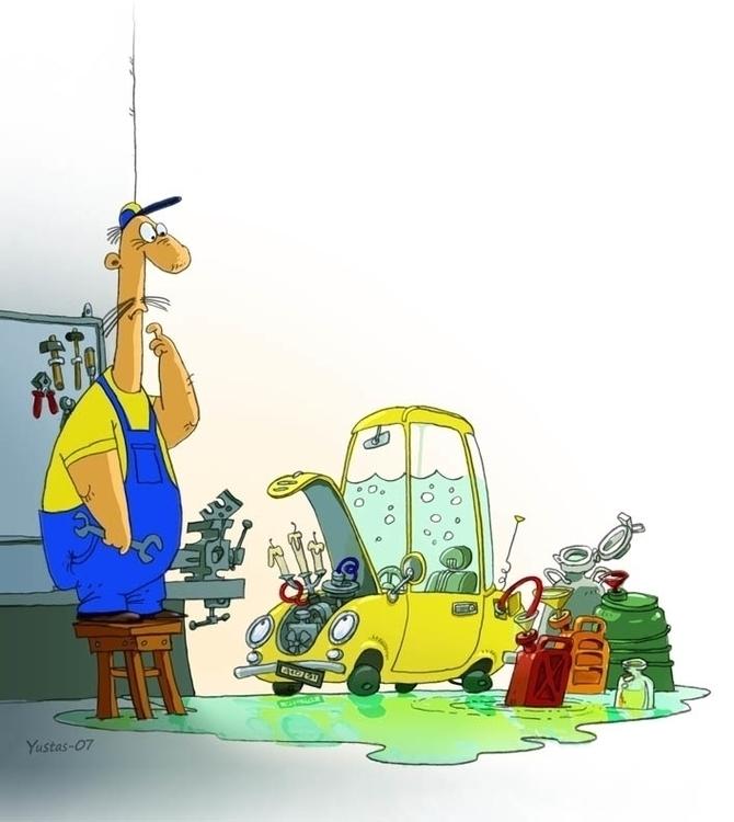 Pimp Ride - illustration, car, cartoon - yustas | ello