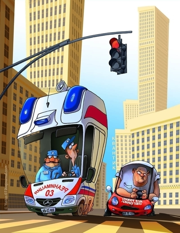 Great Race - car, illustration, city - yustas | ello