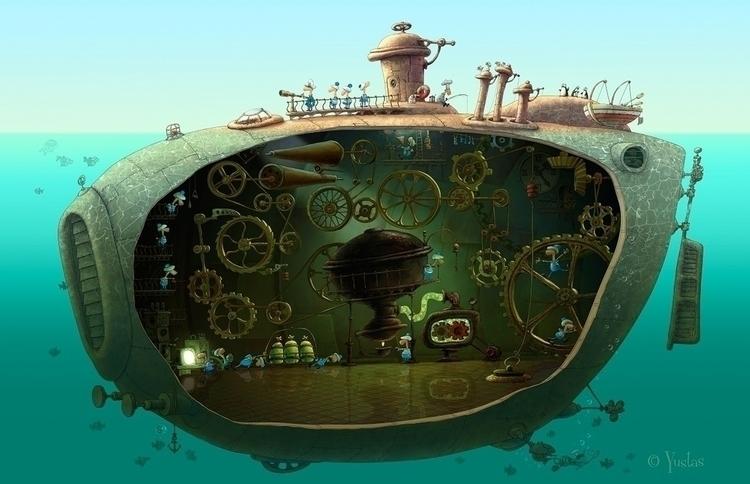 land submarines - illustration - yustas | ello