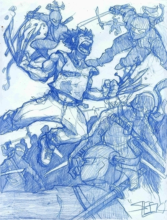 Wolverine - sketch, drawing, comics - khalidrobertson | ello