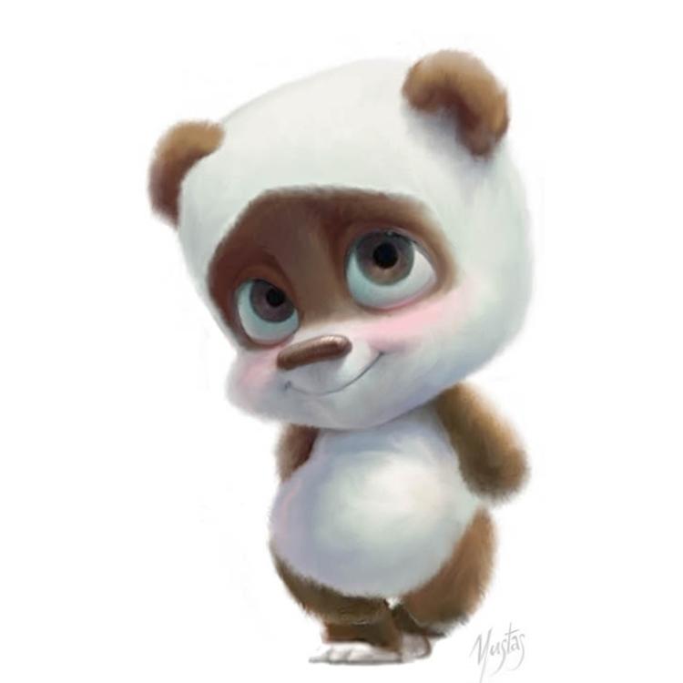 Panda - characterdesign, panda - yustas | ello