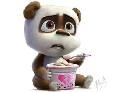 Panda - characterdesign, panda - yustas   ello