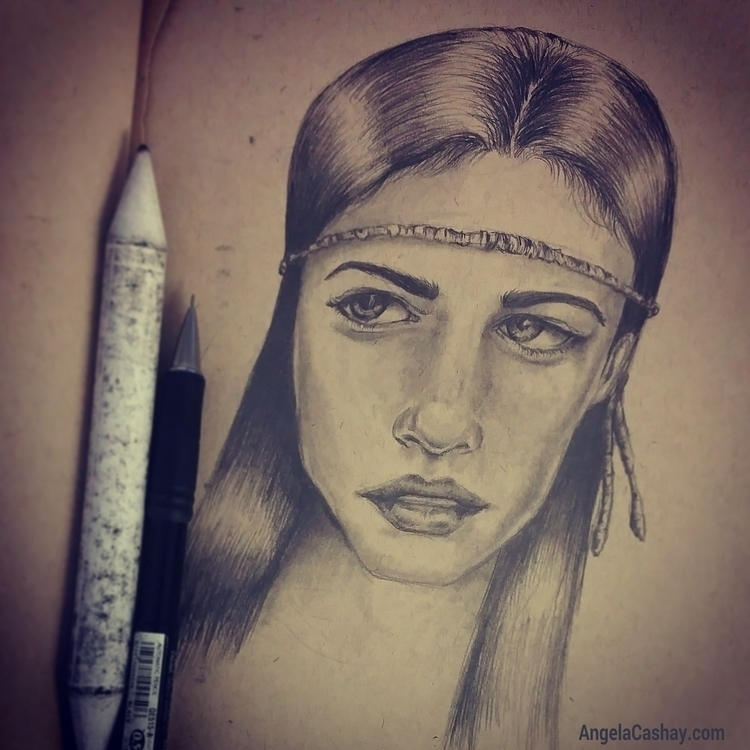 Pencil drawing toned sketch boo - angelacashay | ello