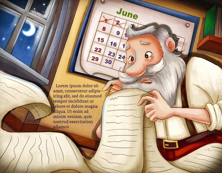 santa, drawing, children'sillustration - wenfancy | ello