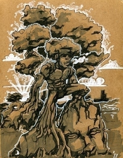 Trees - illustration, drawing - khalidrobertson   ello