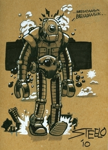 Steambot - drawing, illustration - khalidrobertson | ello