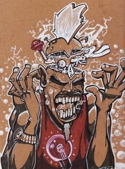 Headache - illustration, drawing - khalidrobertson | ello