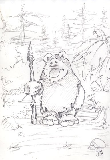 Daily Doodle archives... Ewok 2 - jasonmartin-1263 | ello