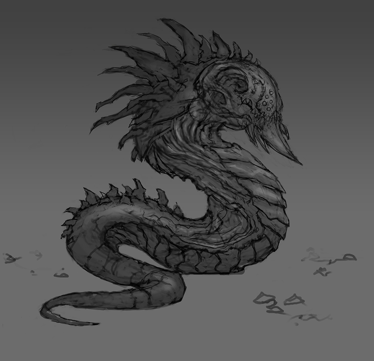 Worm - conceptart, monster - kamilteczynski | ello