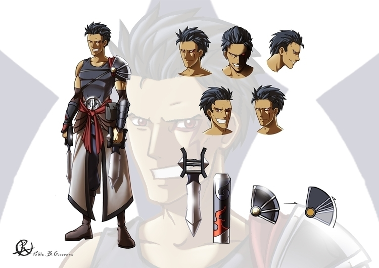 characterdesign, digitalart, blade - pabloguerrero | ello