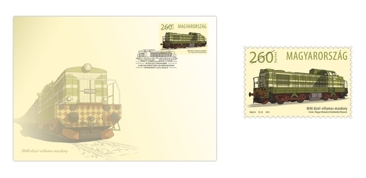 Stamp Hungarian Post - stamp, train - zsoltvidak | ello