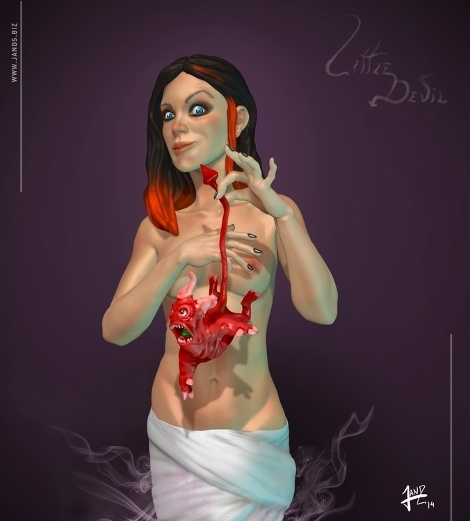 Devil - zbrush, 3d, anatomy, woman - janderson-7361   ello