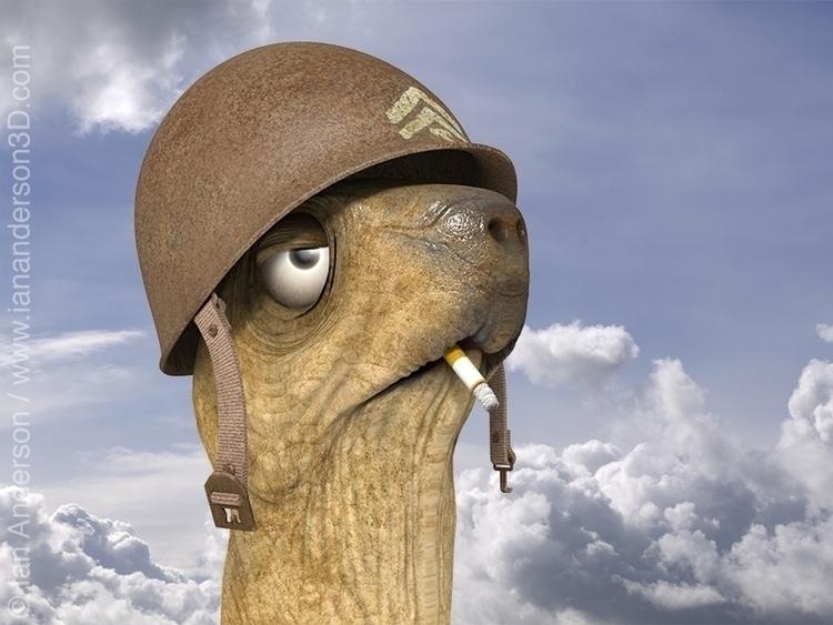 Sgt. Rock Sheldon - 3d, characterdesign - iancredible01   ello