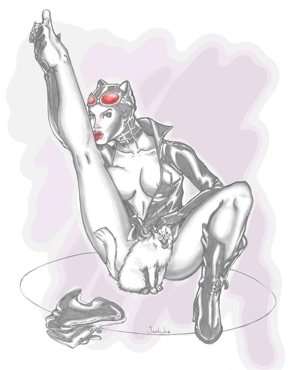 Catwoman - 2d, catwoman, cat, pencil - janderson-7361 | ello