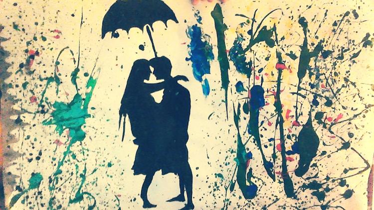 Melted crayon love - art, couple - loveart_wonders | ello