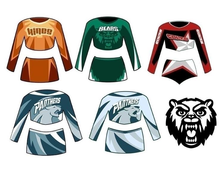 Cheerleader Apparel designs - illustration - khalidrobertson | ello