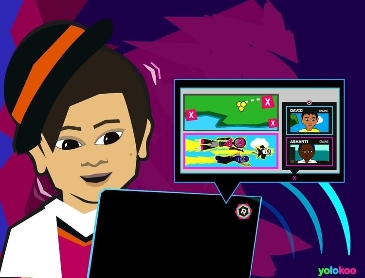 Team Rocbot story Illustration  - johngreuel | ello