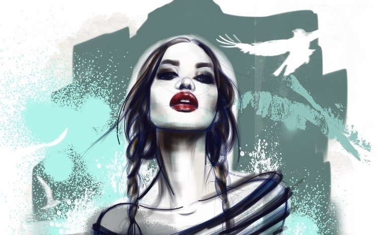 fashionillustration, painting - nina_kosmyleva | ello