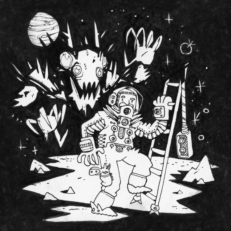 Day 6. Martian. awesome - ink, inktober - colinbrown-7810 | ello