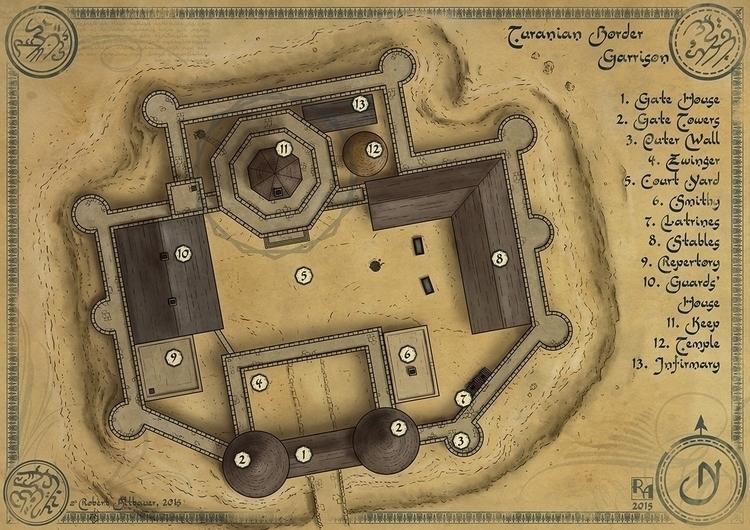 Turanian Border Garrison - map, maps - robertaltbauer | ello