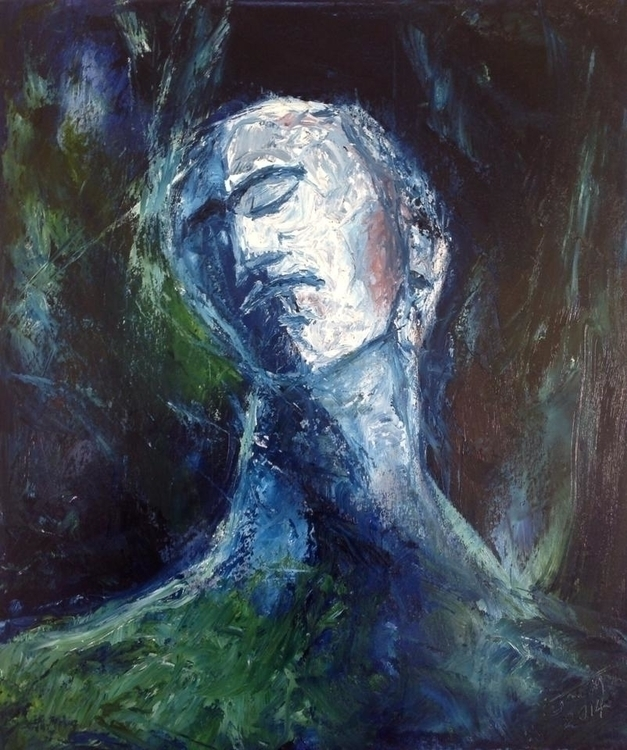 Sad Soul. oil painting 70x50cm - artjose | ello