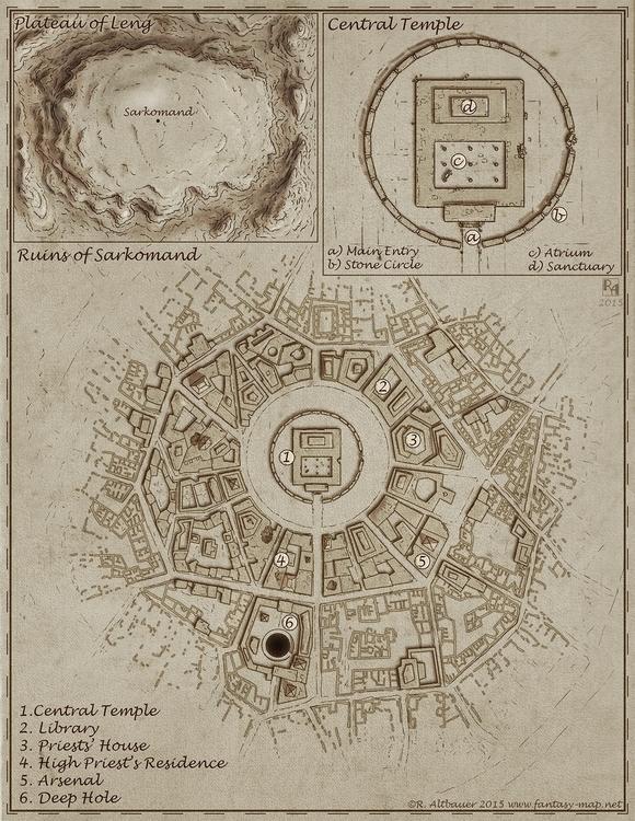 Plateau Leng - map, maps, fantasymap - robertaltbauer | ello