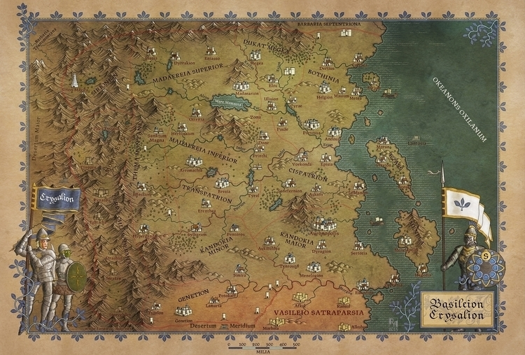 Crysalian Empire - map, maps, fantasymap - robertaltbauer | ello