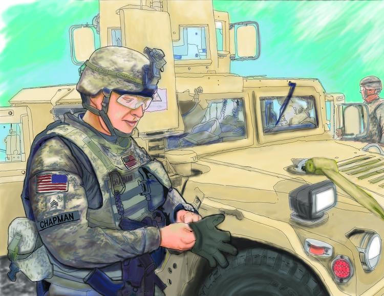 soldier, illustration - thomasechapman | ello