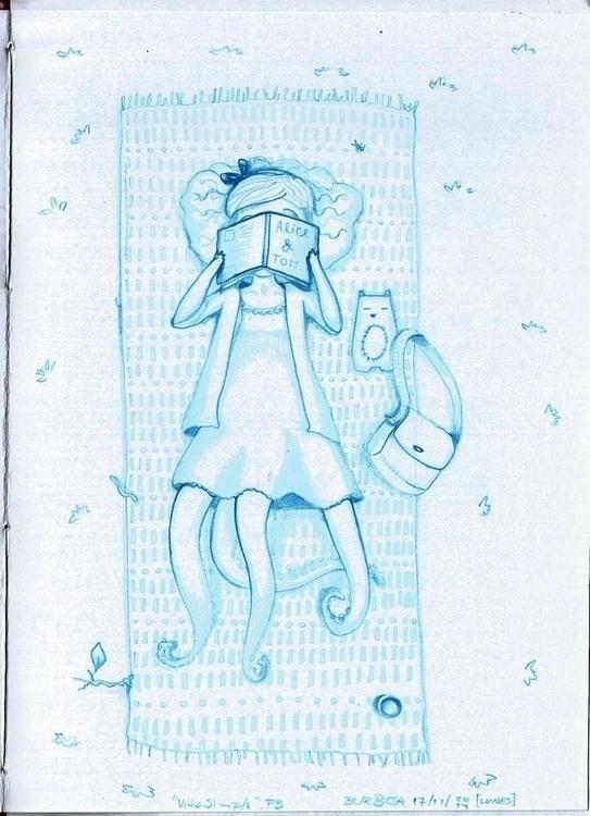 Simple Life - illustration, sketchbook - burbuja-8409 | ello