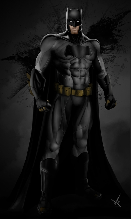 batman, draw, digitalart, digitalillustration - warnergarron | ello