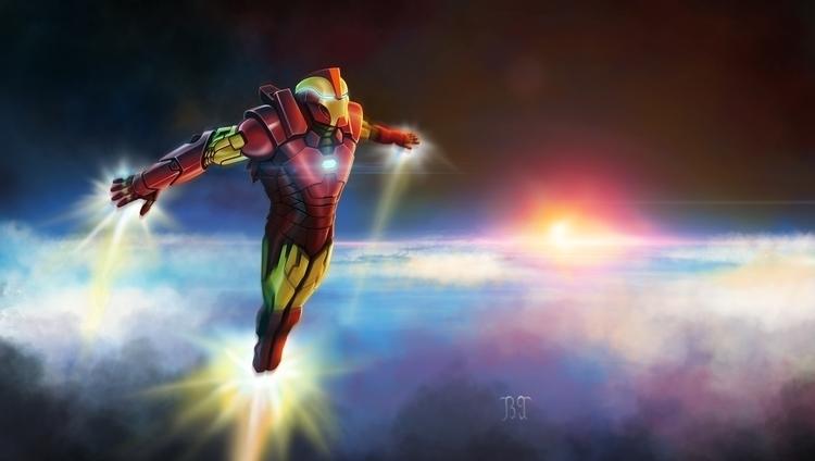 iron man - painting, characterdesign - lnpbr_b9   ello