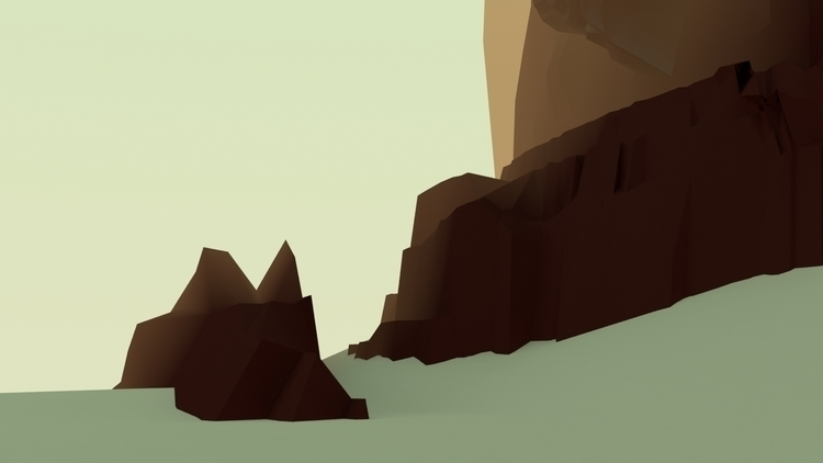 mountains 01 - illustration, animation - annaschillings | ello