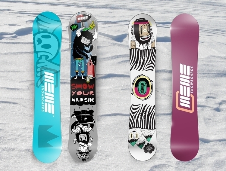 Snowboards illustration - skv0 | ello