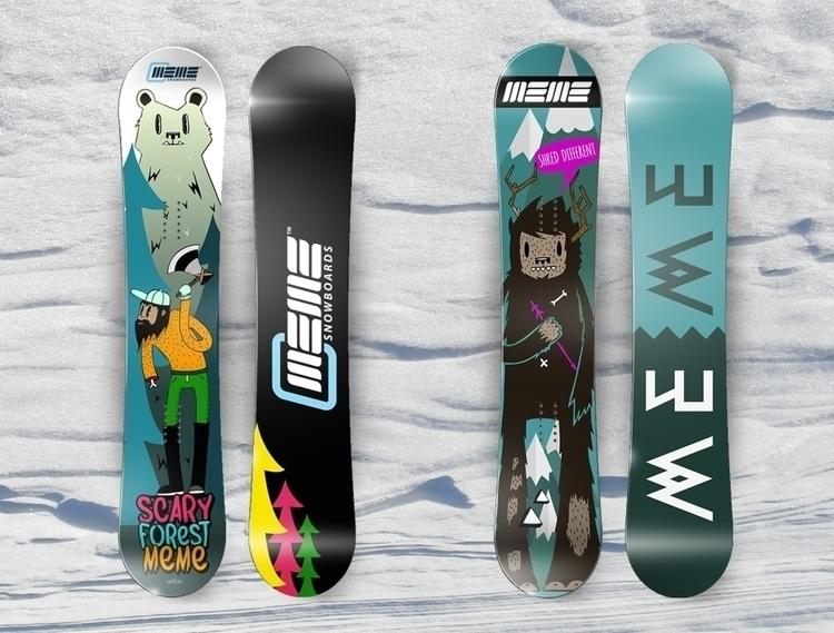 snowboard illustration - skv0 | ello