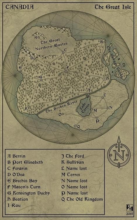 Canadia - illustration, fantasymap - robertaltbauer | ello