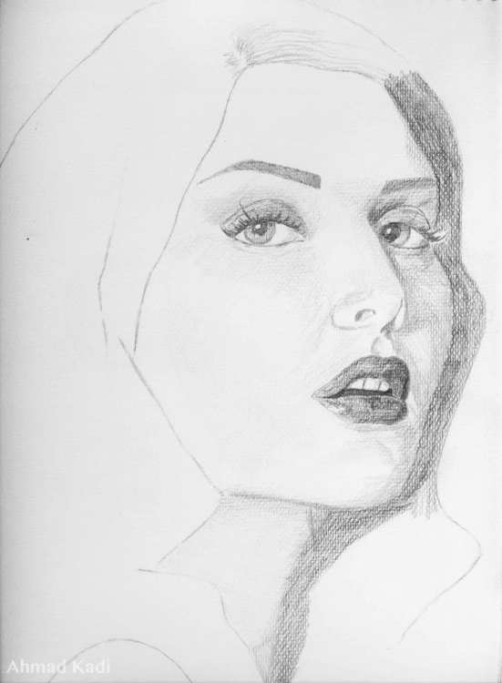 portrait Sketch finish Famous L - kadisart | ello