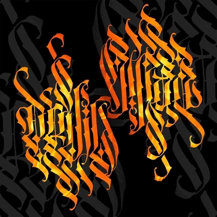 Devil - calligraphy, typography - architaste | ello