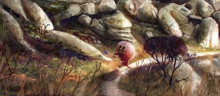 Chasing butterfly. home - illustration - gagatka | ello