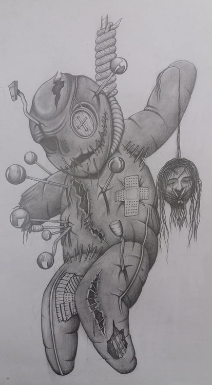 Voodoo Doll - drawing - steven-8489 | ello