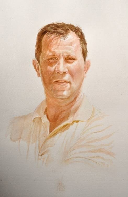 portrait - watercolor - alexideo | ello