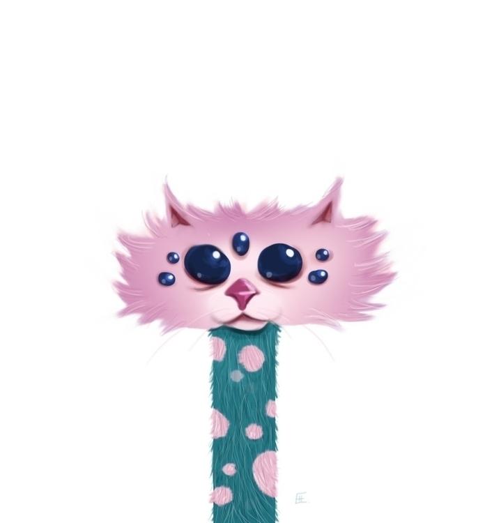 Spider Worm Kitty - illustration - macbeth-9268 | ello