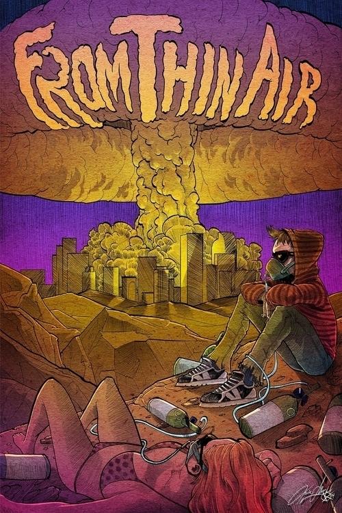 Thin Air band poster - illustration - kevinallen-5044 | ello