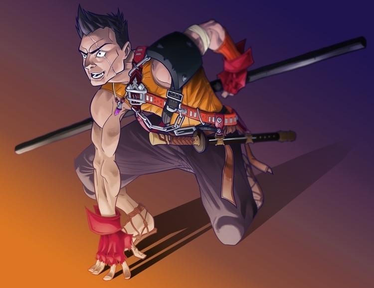 Crazy Monk - illustration - kevinallen-5044 | ello