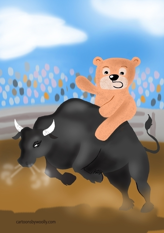 Teddy Rodeo - illustration, characterdesign - paulwooldridge | ello