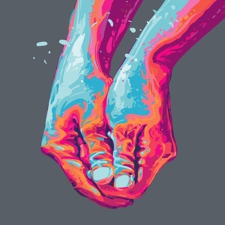 Handball illustration poster (2 - alexideo | ello