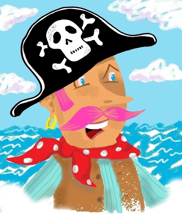Pinky Pirate - illustration, characterdesign - paulwooldridge | ello