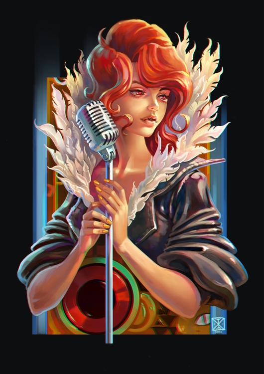 Transistor fan art - illustration - ksyavee | ello